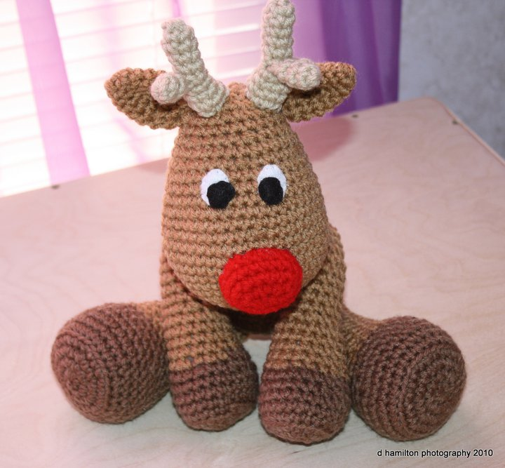Crochet Baby Hats Rudolph The Reindeer Free Crochet Hat Pattern ...   667x720