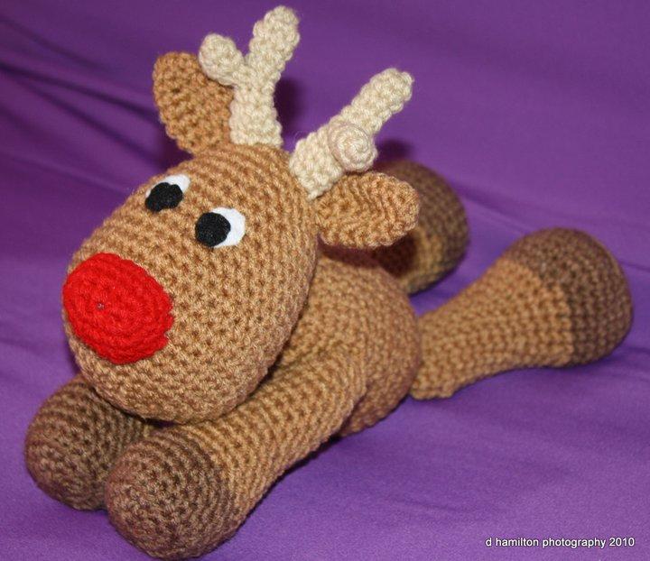 rudolph crochet, reindeer crochet PDF, rudolf pattern, soft toy ...   622x720