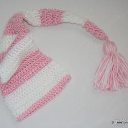 Infant's crochet sleeper hat